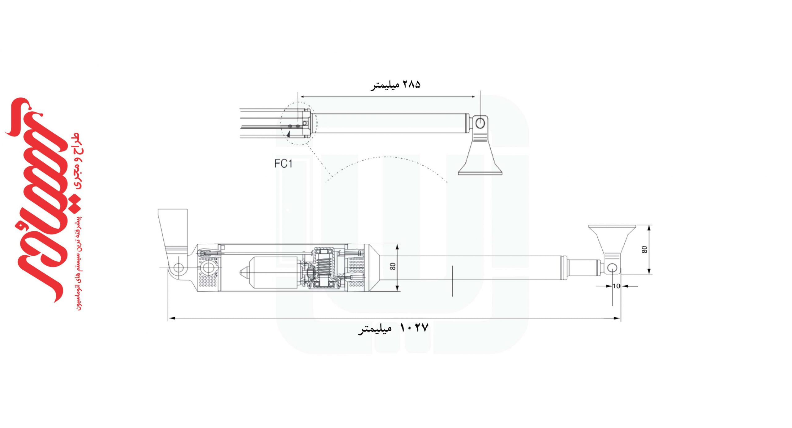 ابعاد جک پارکیبنگ BFT مدل فبوس