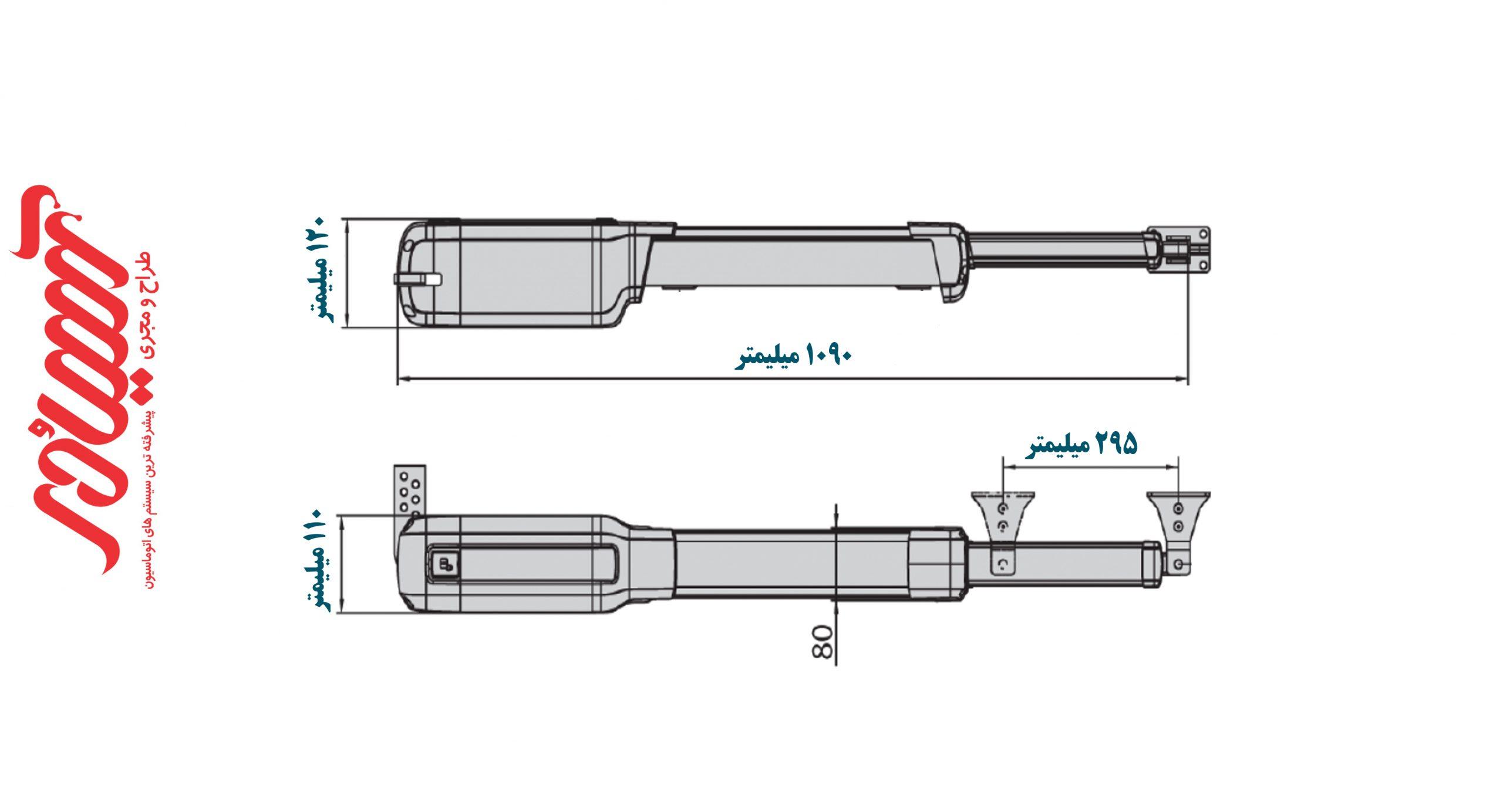 ابعاد جک پارکینگ BFT مدل فبوس 25-40