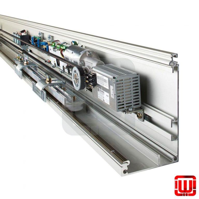 درب اتوماتیک شیشه ای کشویی فک مدل FAAC A100