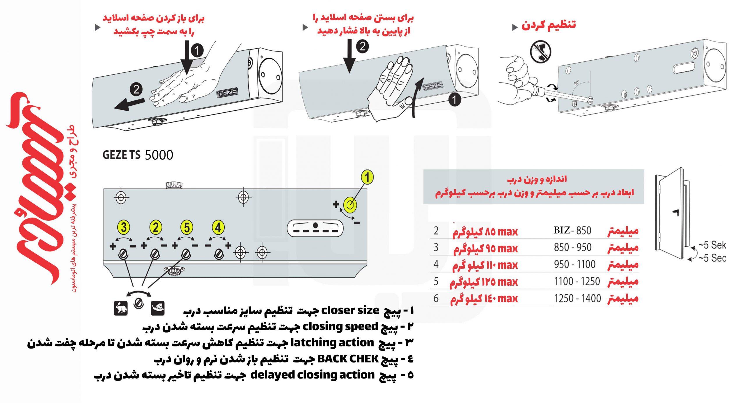 تنظیمات و نصب گزه ts 5000